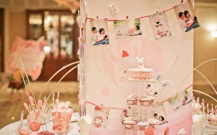 粉色城堡宝宝宴,散发出甜蜜的气息-花海阁婚礼